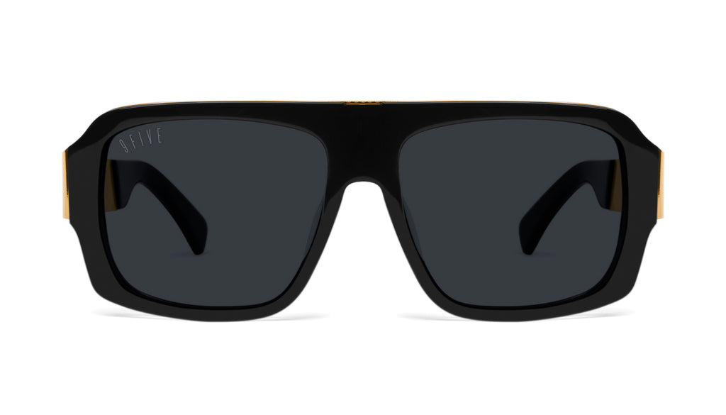 9FIVE Tips LX Black & 24K Gold Sunglasses