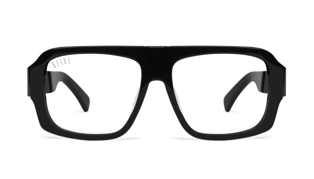 9FIVE Tips LX Matte Blackout Clear Lens Glasses