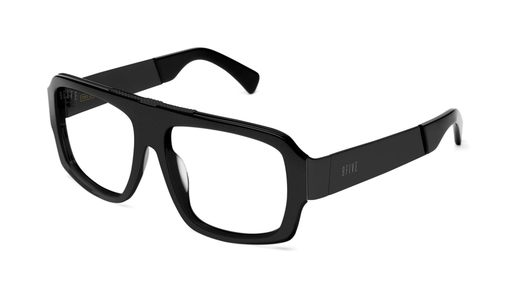 9FIVE Tips LX Matte Blackout Clear Lens Glasses Rx