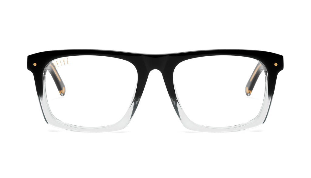 9FIVE One (Watson) Black Fade Clear Lens Glasses