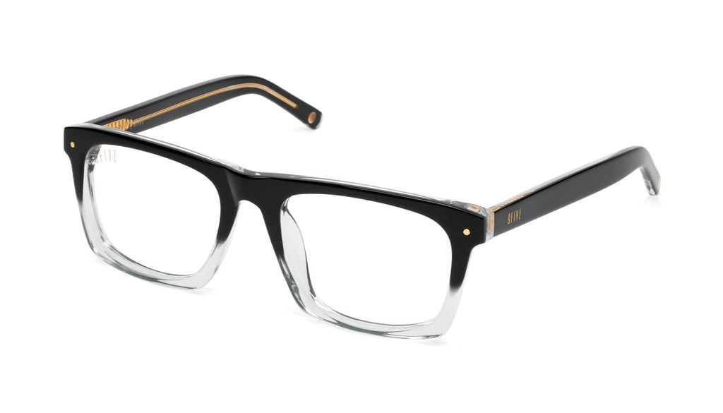 9FIVE One (Watson) Black Fade Clear Lens Glasses Rx