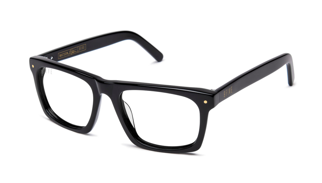 9FIVE Watson Black Clear Lens Glasses Rx