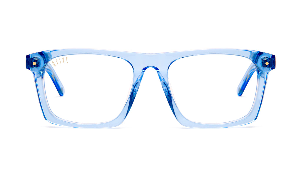 9FIVE One (Watson) Crystal Blue Clear Lens Glasses Rx