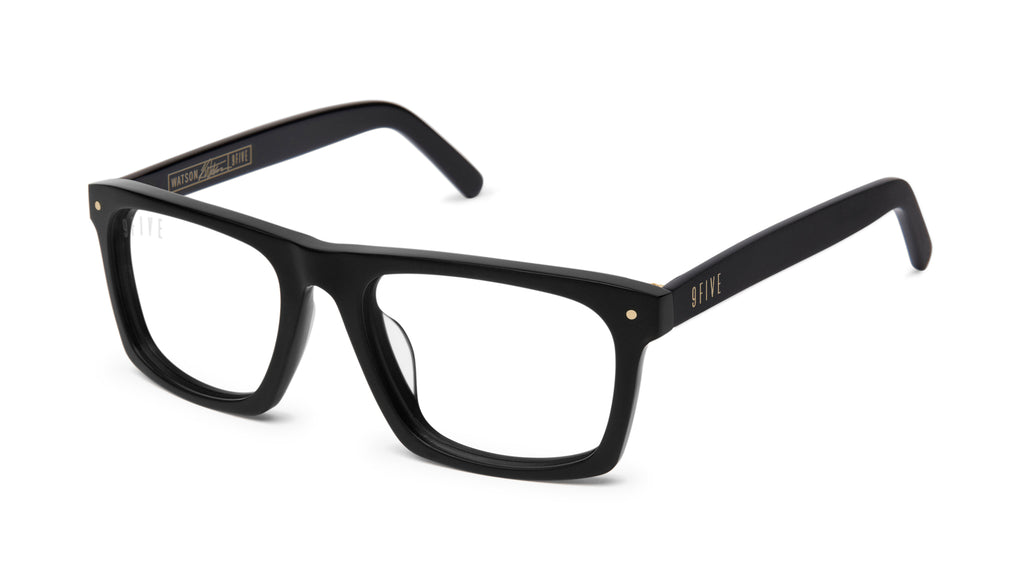9FIVE Watson Matte Blackout Clear Lens Glasses Rx