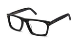 9FIVE Watson Matte Blackout Clear Lens Glasses