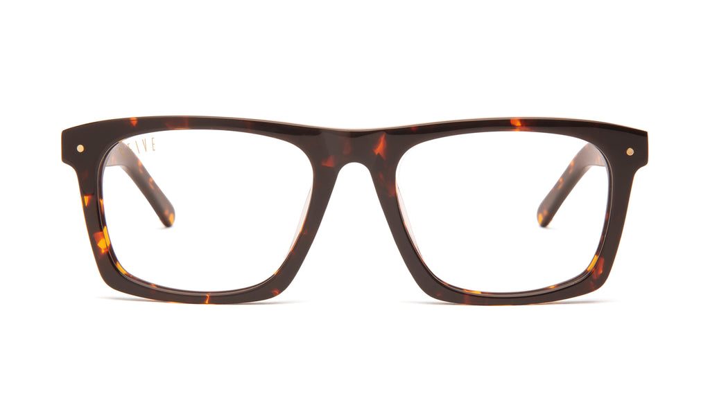 9FIVE Watson Tortoise Clear Lens Glasses Rx