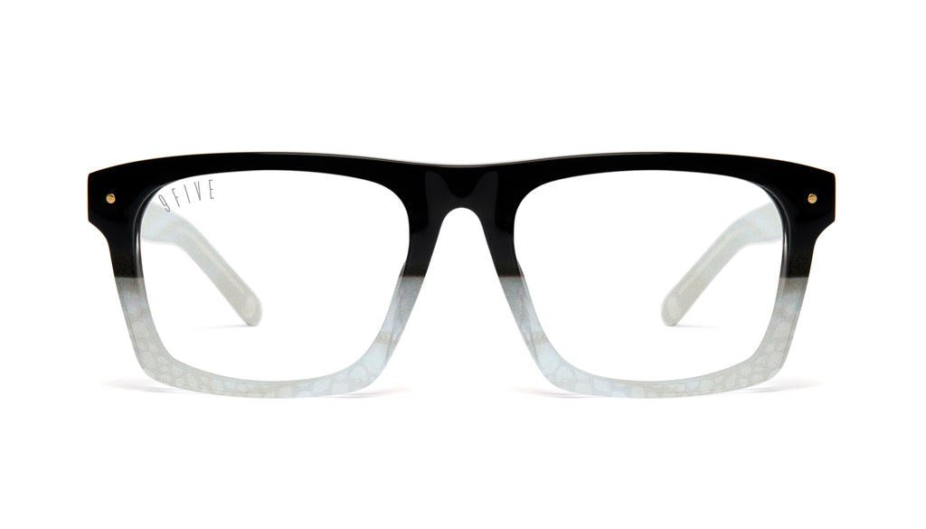 9FIVE Watson Marble Croc Clear Lens Glasses