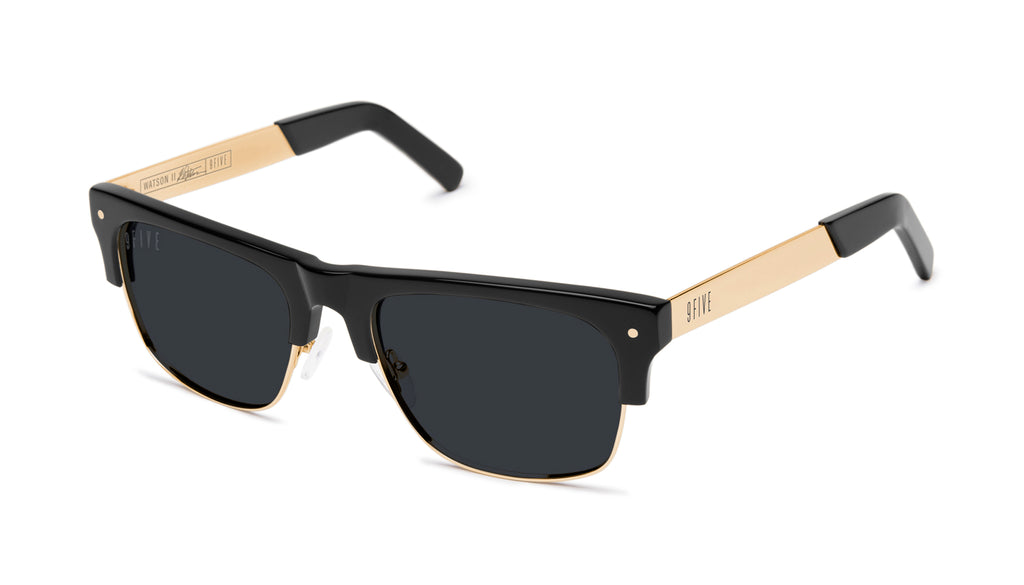 9FIVE Watson 2 Black & 24K Gold Sunglasses