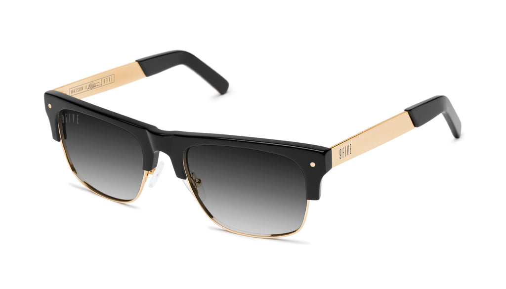9FIVE Watson 2 Black & 24K Gold - Gradient Sunglasses