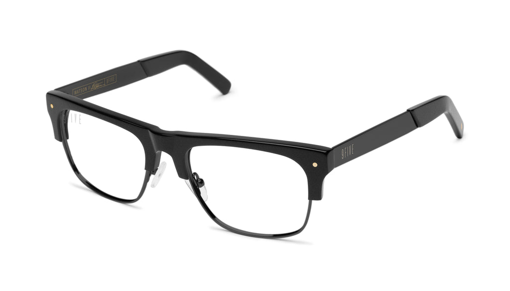 9FIVE Watson 2 Matte Blackout Clear Lens Glasses