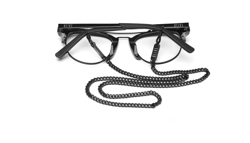 9FIVE Matte Black Micro Cuban Eyewear Lanyard