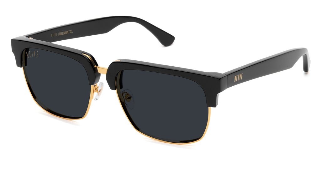 9FIVE Belmont Black & 24K Gold XL Sunglasses
