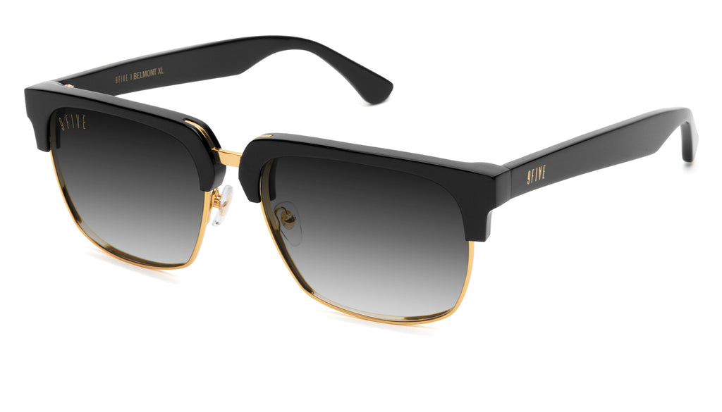 9FIVE Belmont Black & 24K Gold XL - Gradient Sunglasses