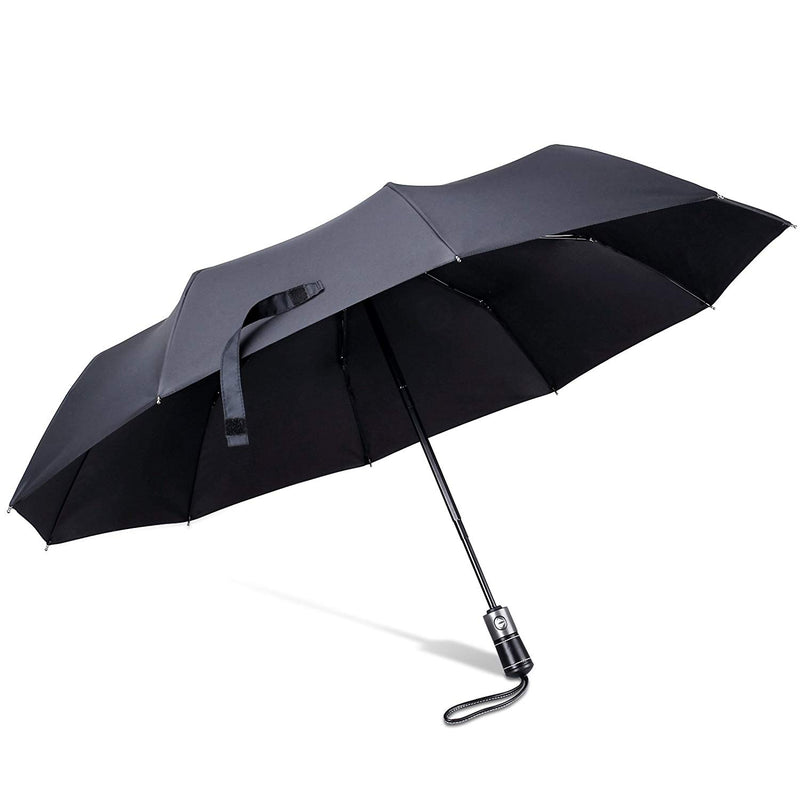 Folding Automatic Open Umbrella Wind-resistant Water-repellent Umbrella (Black)