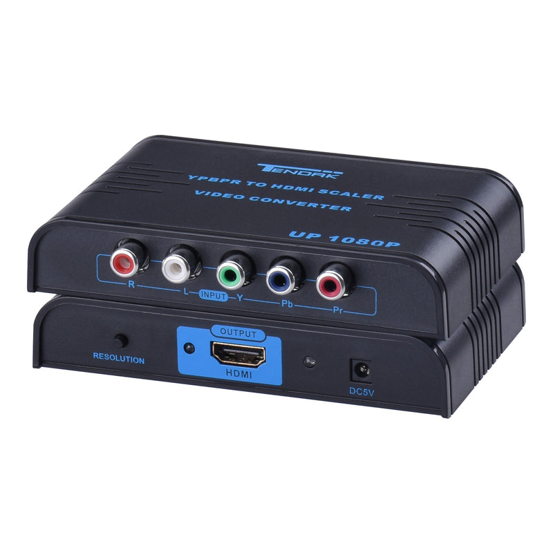 Tendak 5RCA Component RGB YPbPr to HDMI Converter + L/R Audio Support 1080P for Sony PSP PS2 Direct TV DVR Wii