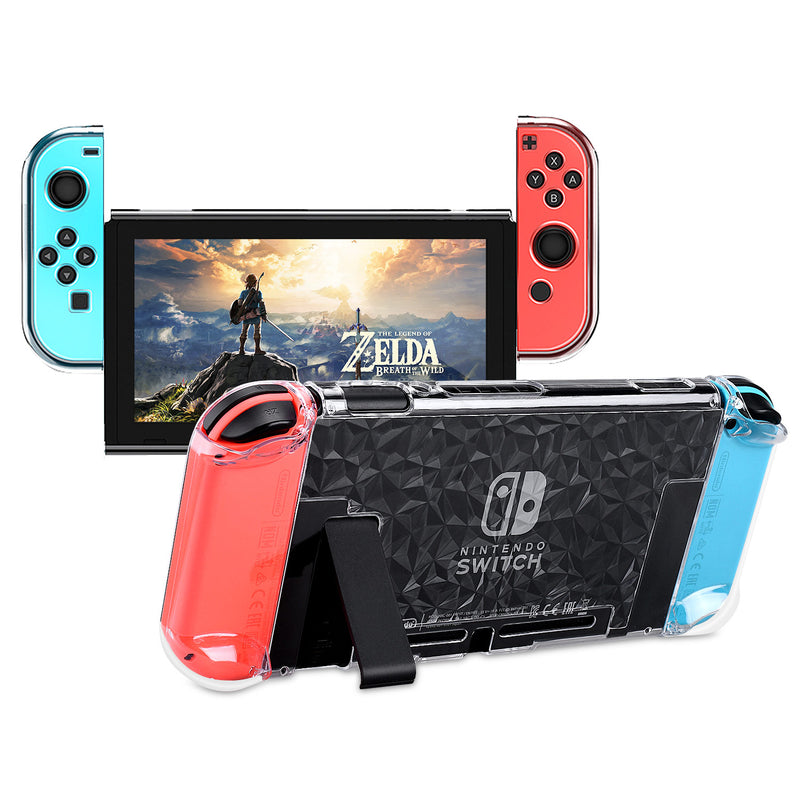 Dockable Case Compatible with Nintendo Switch, Protective Accessories Cover Case Compatible with Nintendo Switch and Nintendo Switch Joy-Con - Clear
