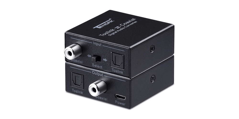 Optical to Coaxial SPDIF to Coax  Coaxial to Optical Toslink | Tendak