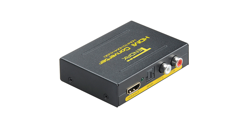 HDMI to HDMI and Optical TOSLINK SPDIF + Analog RCA L / R Stereo Audio Extractor Converter