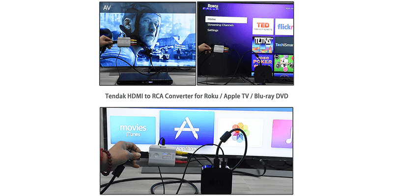 HDMI-to-Composite Converter with Optical Coax | Tendak