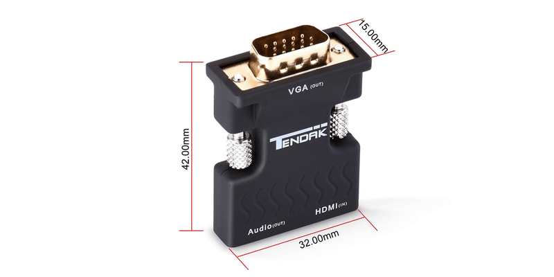 Gold-Plated HDMI to VGA Converter | Tendak