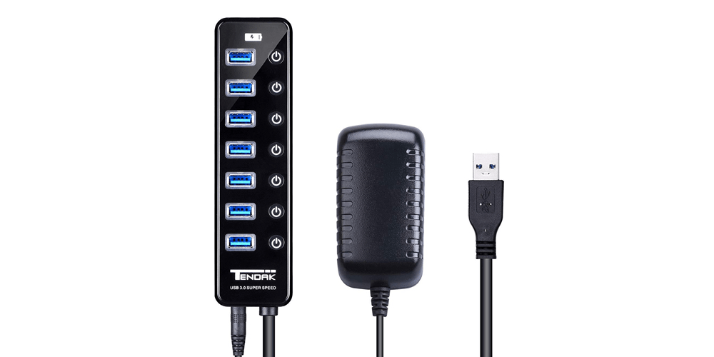 7 Ports USB 3.0 HUB with Powered | Tendak - sztendak