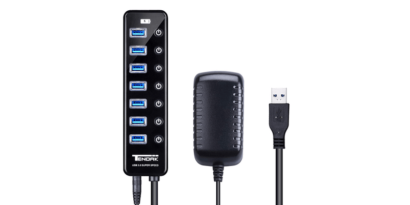 7 Ports USB 3.0 HUB with Powered | Tendak