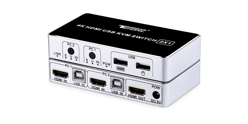 2 Ports 4K HDMI KVM Switch | Tendak