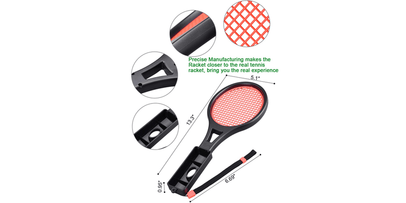 Tennis Racket Compatible with Nintendo Switch | Tendak