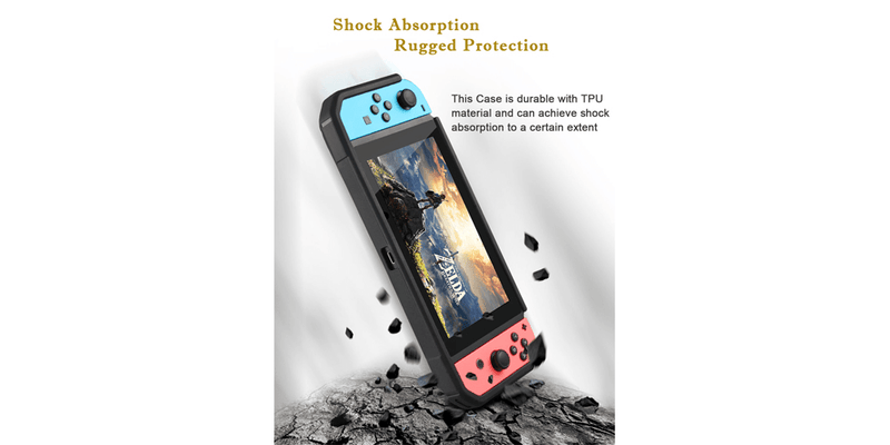 Nintendo Switch Clear Shockproof Hard Case Cover | Tendak