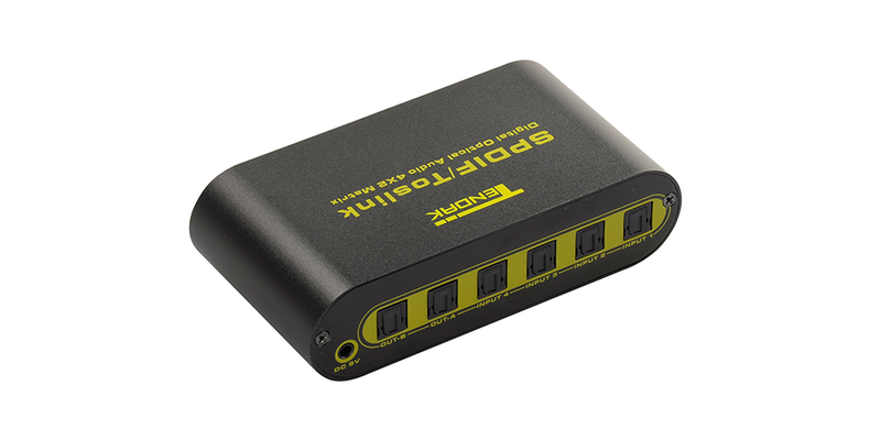 Digital Premium Quality SPDIF TOSLINK Digital Optical Audio 4x2 Matrix | Tendak