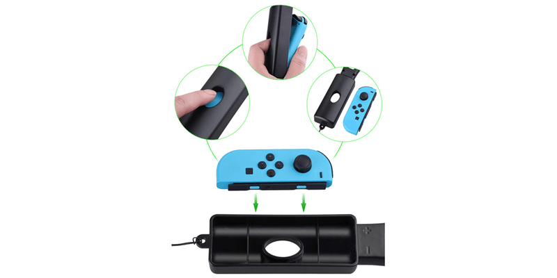 Tennis Racket Joy-Con Controllers for Mario Tennis Aces Game | Tendak