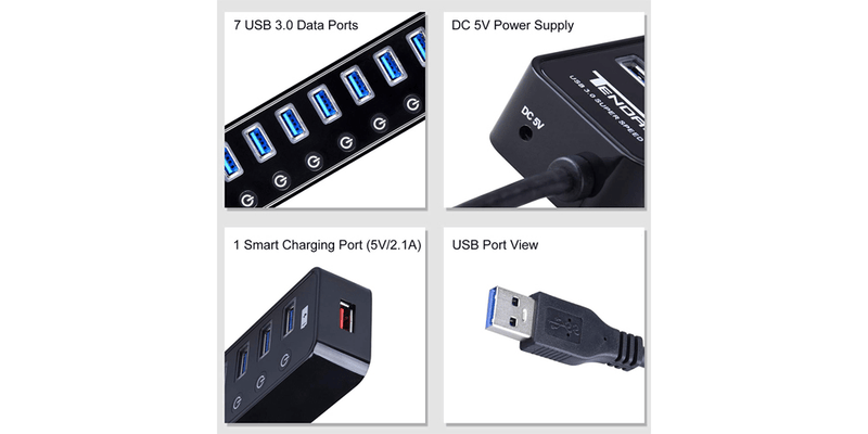 Powered USB Hub Splitter | Tendak