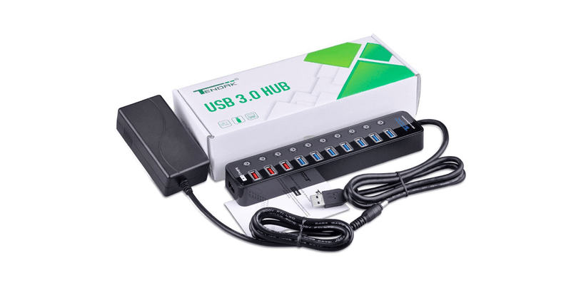 10 Ports USB 3.0 HUB with Powered | Tendak