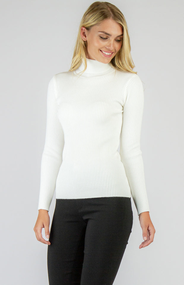 Back To Basics White Knit