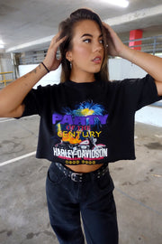 Harley Davidson Vintage Tee - Black Party Of Century Crop