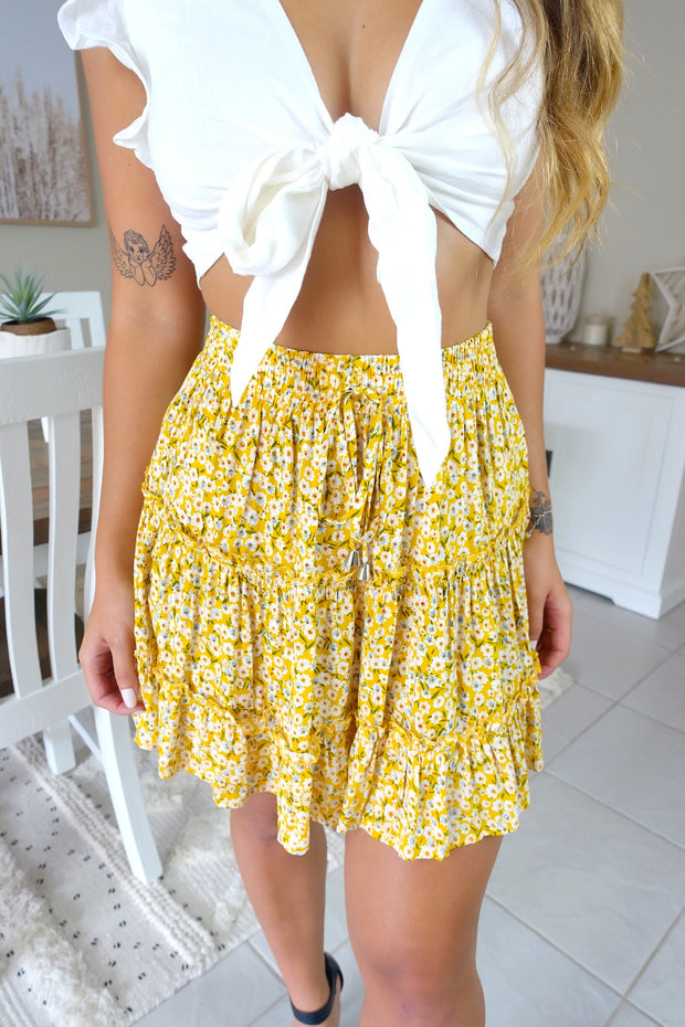Short & Sweet Skirt Mustard
