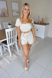 Summer Beach Babe Shorts Beige