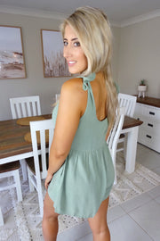 Forever My Love Playsuit Khaki