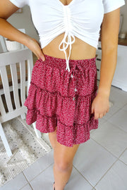 Short & Sweet Skirt Red