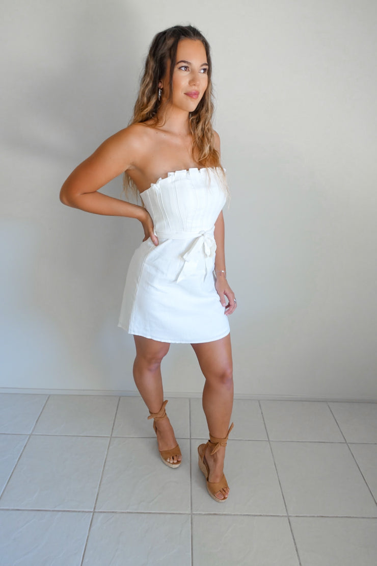 Crazy For You Dress White