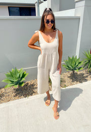 Forever My Love Jumpsuit Natural