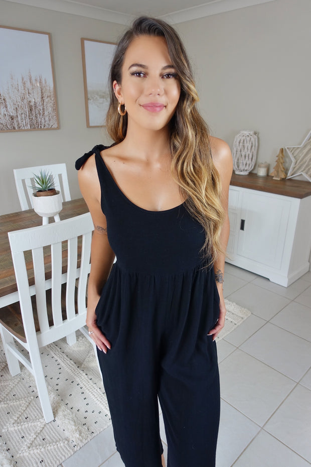 Forever My Love Jumpsuit Black