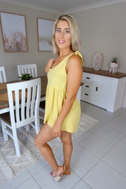 Forever My Love Playsuit Mustard