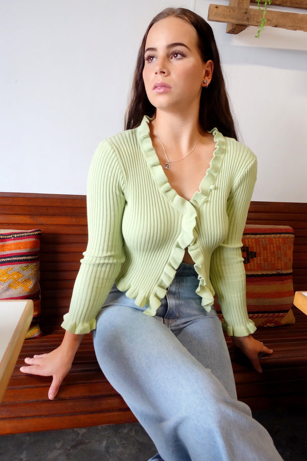 Road To Love Knit Top Green