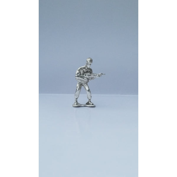 Classic Army Man Gunner Silver Toy Soldier 1 oz .999 Fine Silver-SILVER ARMY MEN-1776mint