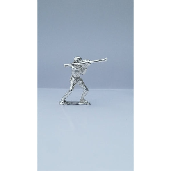 Classic Army Man Stovepipe Silver Toy Soldier 1 oz .999 Fine Silver-SILVER ARMY MEN-1776mint
