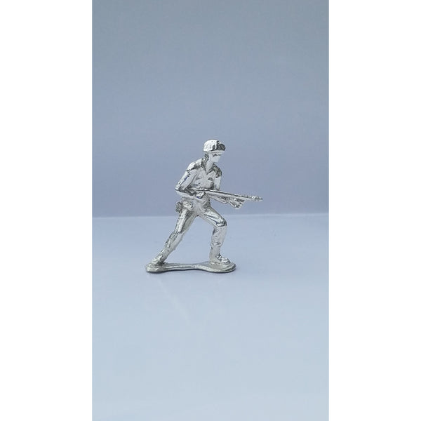 Classic Army Man Flamethrower Silver Toy Soldier 1 oz .999 Fine Silver