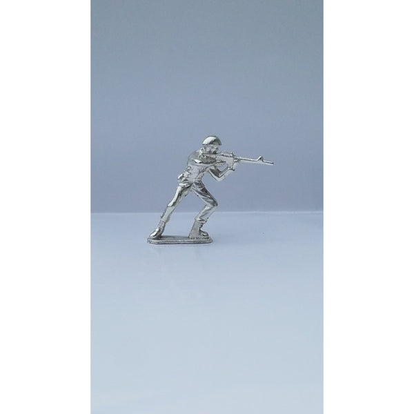 Classic Army Man M16 Silver Toy Soldier 1 oz .999 Fine Silver-SILVER ARMY MEN-1776mint