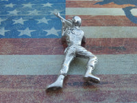 Classic Army Man Prone M16 Toy Soldier 1 oz Sterling Silver .925