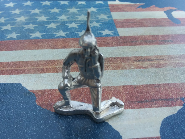 Classic Army Man Radio Man Silver Toy Soldier 1 oz Sterling Silver .925